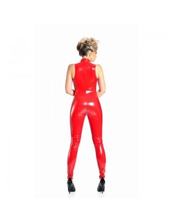 Angelica Red vinyl catsuit...