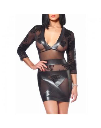 Evelina Fishnet black dress