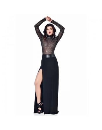 Saphir Black long skirt