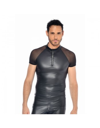 Khal T-shirt wetlook noir
