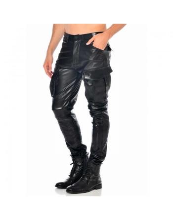 Bronn Gargo leather look pants