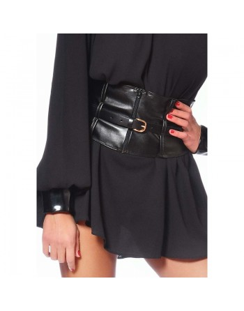 Agatha Wide belt with buckle