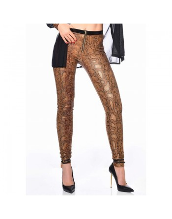 Ann Treggings Snake Print