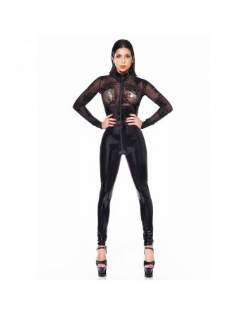 Sasha Lace vinyl catsuit...