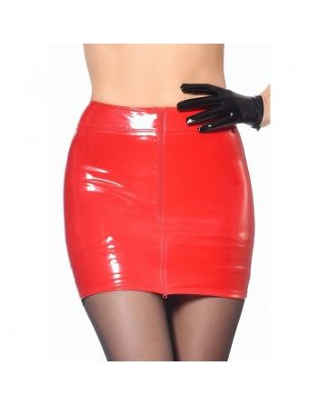 Livinia Vinyl mini skirt