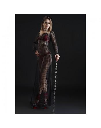 Enza Black Long Dress