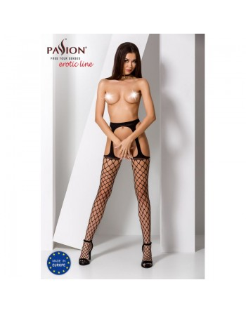 S011B Garter Stocking - Black