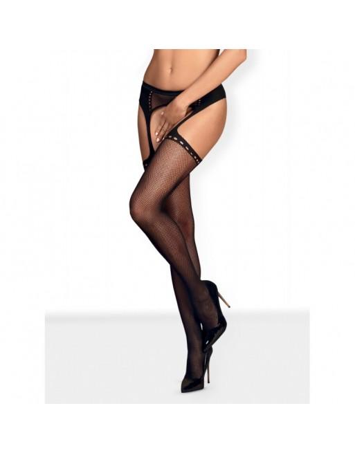 S314 Garter stockings - Black