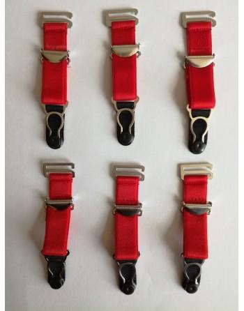 Lot of 6 Vintage Red...