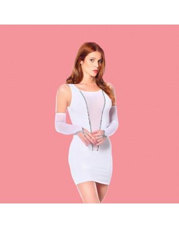 Flore White short dress