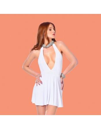 Isa White Lycra Dress