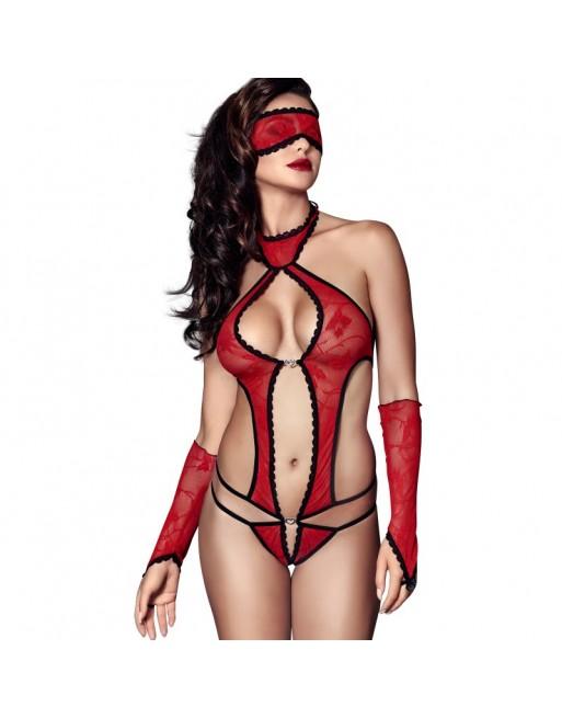 Ashley Teddy, Mask  Mittens - Red