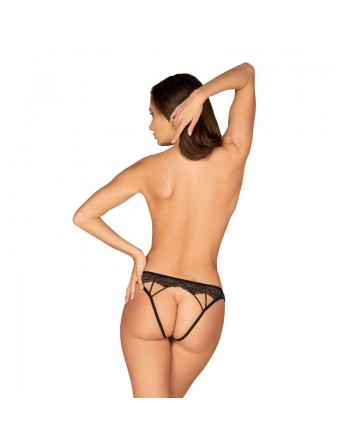 Meshlove crotchless Panty - Black