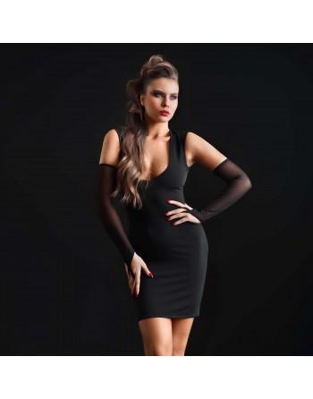 Brittany Lycra Fishnet Dress
