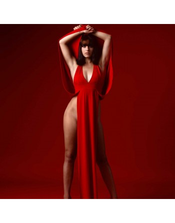 Isabella Red open dress