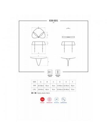 838-SEG-3 Ensemble 3 pcs - Rouge