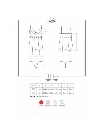 Lovica corset  thong Red