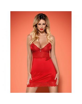 Lovica chemise  thong Red