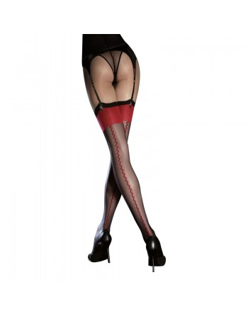Anais Stockings 20 DEN - Black  red