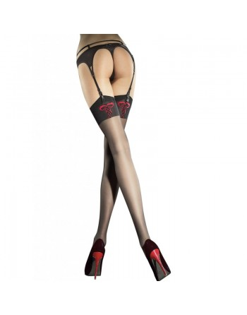 Incontra Stockings - Black  red