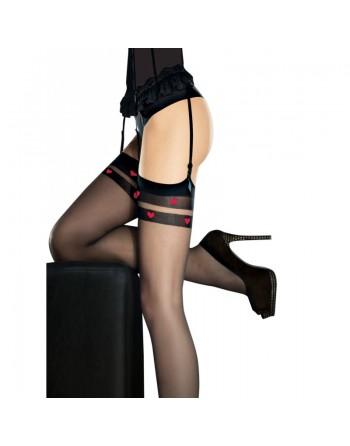 Eternal Stockings - Black  red
