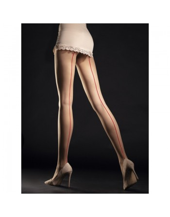 Unique Tights 20 DEN - Nude  Red