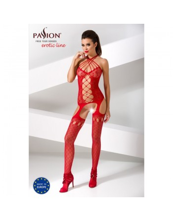 BS056b Bodystocking - Red