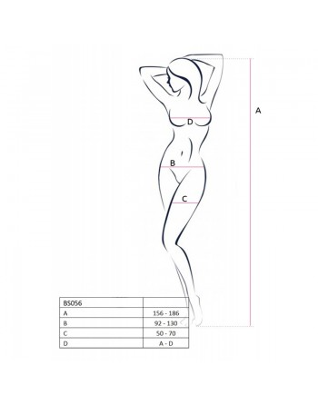 BS056b Bodystocking - Rouge