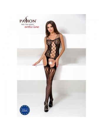 BS056a Bodystocking - Black