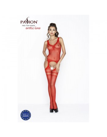 BS038b Bodystocking - Red