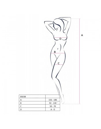 BS038b Bodystocking - Rouge