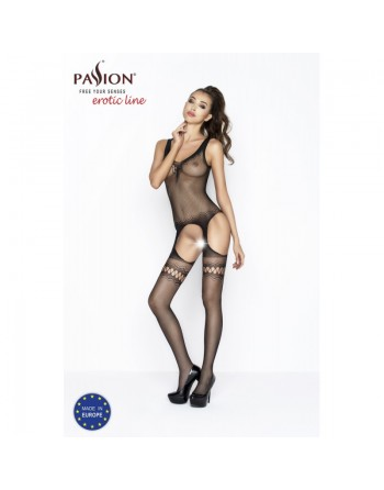 BS038a Bodystocking - Black