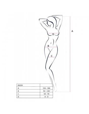 BS034 Bodystocking - Noir
