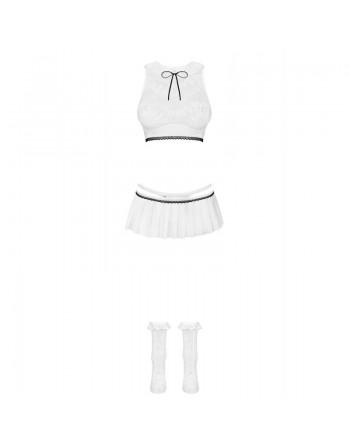 833-CST-2 Costume Etudiante - Blanc