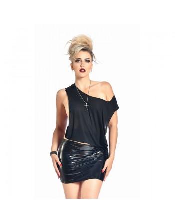 Demon Black vinyl skirt