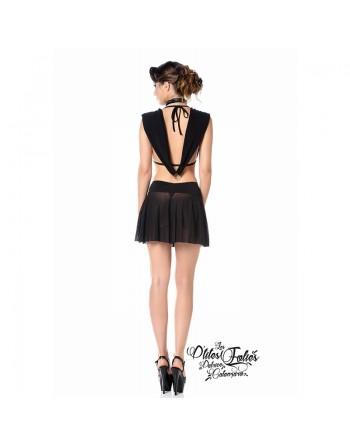 Fabienne Sexy black mini skirt