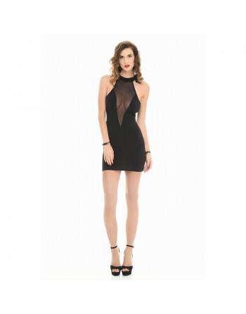 Cecily Fishnet lycra dress