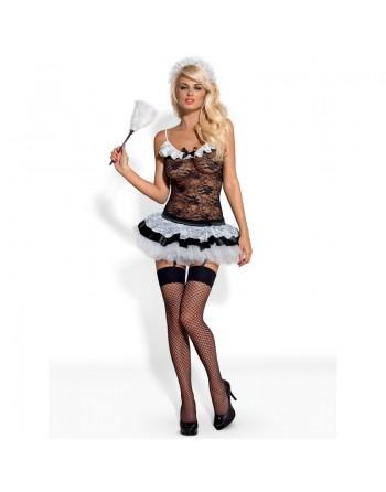 Housemaid 5 pcs Costume - Black  White