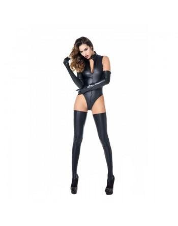 Manon Black Wetlook Bodysuit