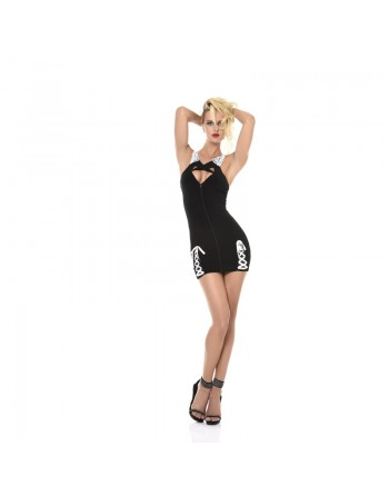 Alexane Sexy black lycra dress