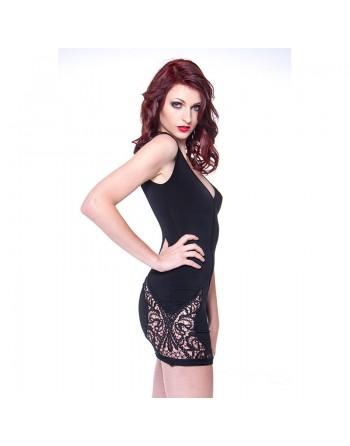 Flavia Sexy tight black dress