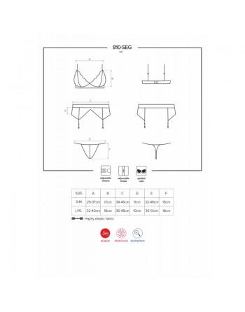 810-SEG-2 Ensemble 3 pcs - Blanc
