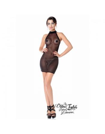 Hanka Fishnet black dress