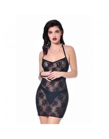Agnes Mesh black dress